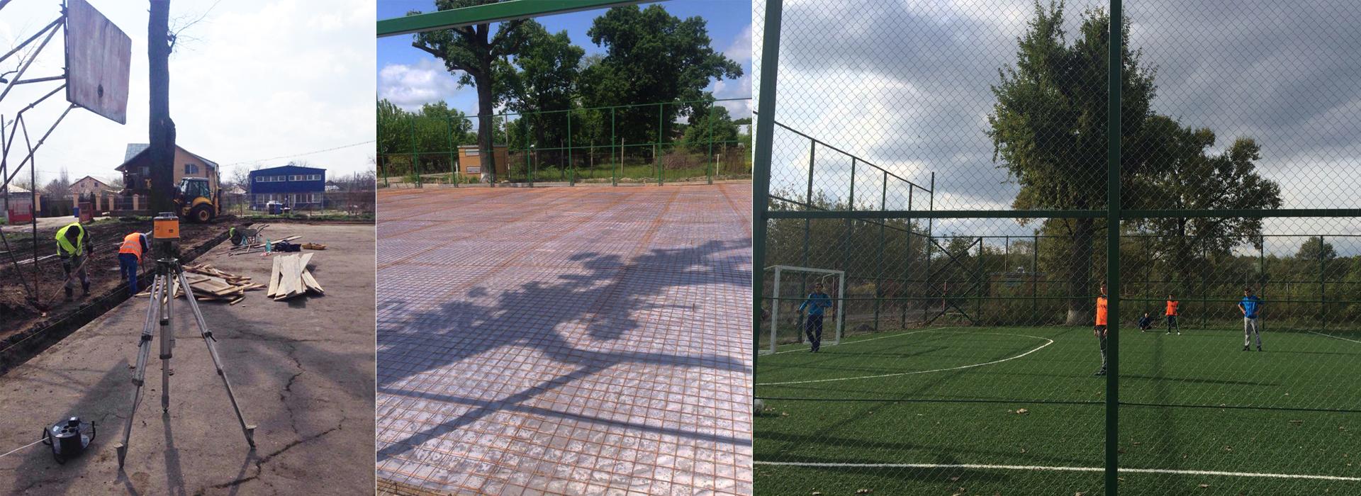 Betonare si acoperire cu gazon sintetic stadion fotbal